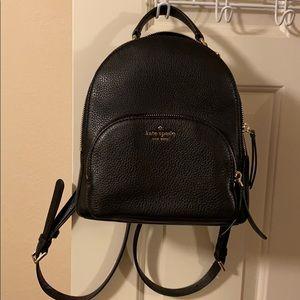 Kate Spade black leather backpack purse.